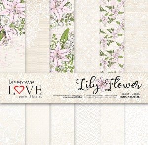"Laserowe - Lily Fower 12x12"" papperspack"