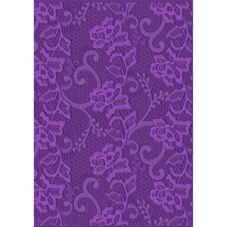 Embossingfolder Crafters Companion Chantilly Lace