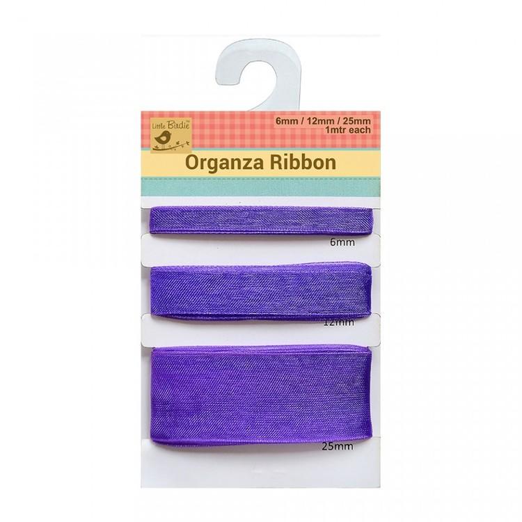 Organza band lila 71053