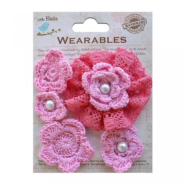 Crochet Daisies   Carnation Pink 34094