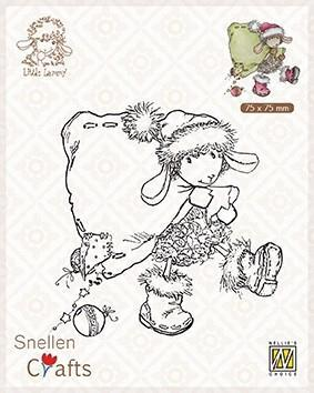 Nellie Snellen Clearstamp  Santa Lammy