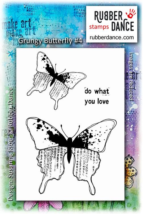 Gummistämpel Grungy butterfly #4