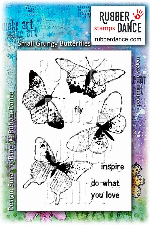 Gummistämpel Small grungy butterflies
