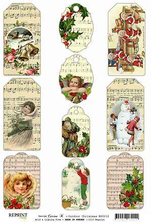 KP0012 Christmas tags