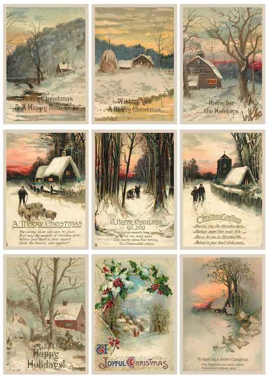 Kp0026 Vintage xmas greetings