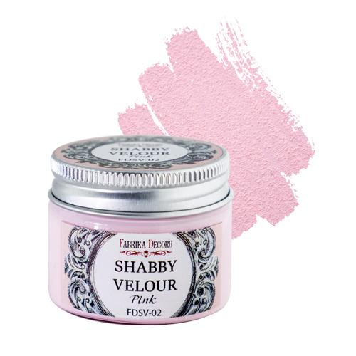 Shabby Velour Pink