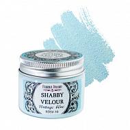 Shabby Velour Vintage Blue