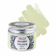 Shabby Velour Olive