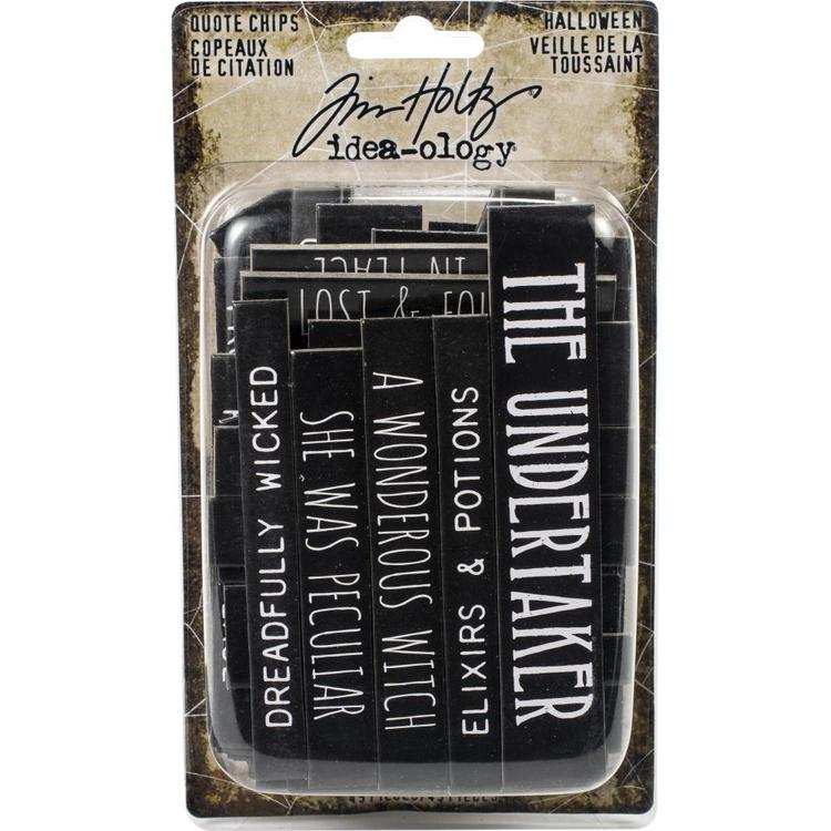 Tim Holtz Idea-Ology Chipboard Quote Chips 49/Pkg - Halloween