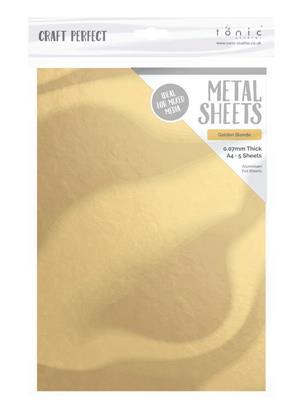Metall sheet Golden Blond A4