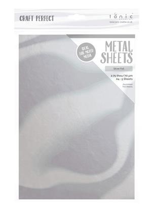 Metallic sheet Silver A4