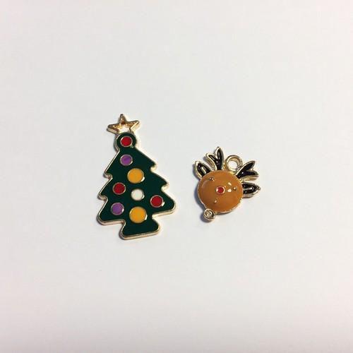 Christmas Charms X-mas tree & little reindeer