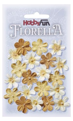 Fiorella 2 cm små blommor i gula nyanser  3866004