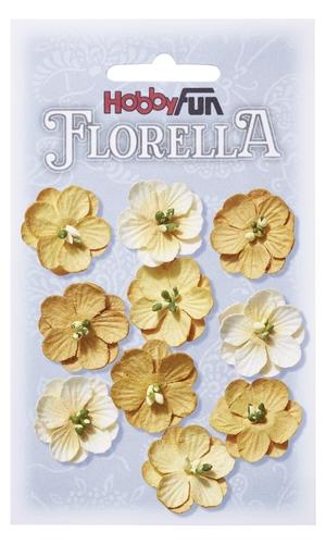 Fiorella blommor 2.5 cm i gula nyanser 3866014
