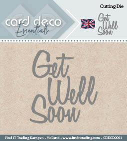 Card deco dies Get well soon