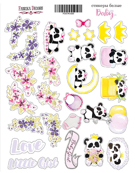Stickers My little baby girl 020