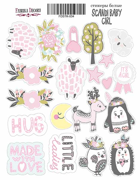 Stickers Scandi baby girl 034