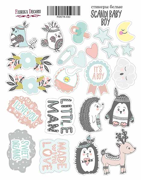 Stickers Scandy baby boy  033