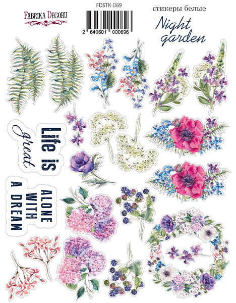 Stickers Night garden 0696