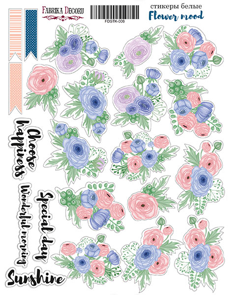 Stickers Flower mood 008