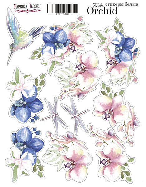 Stickers Tender Orchid  009