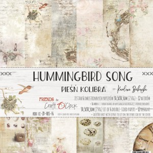 Hummingbird song 12x12