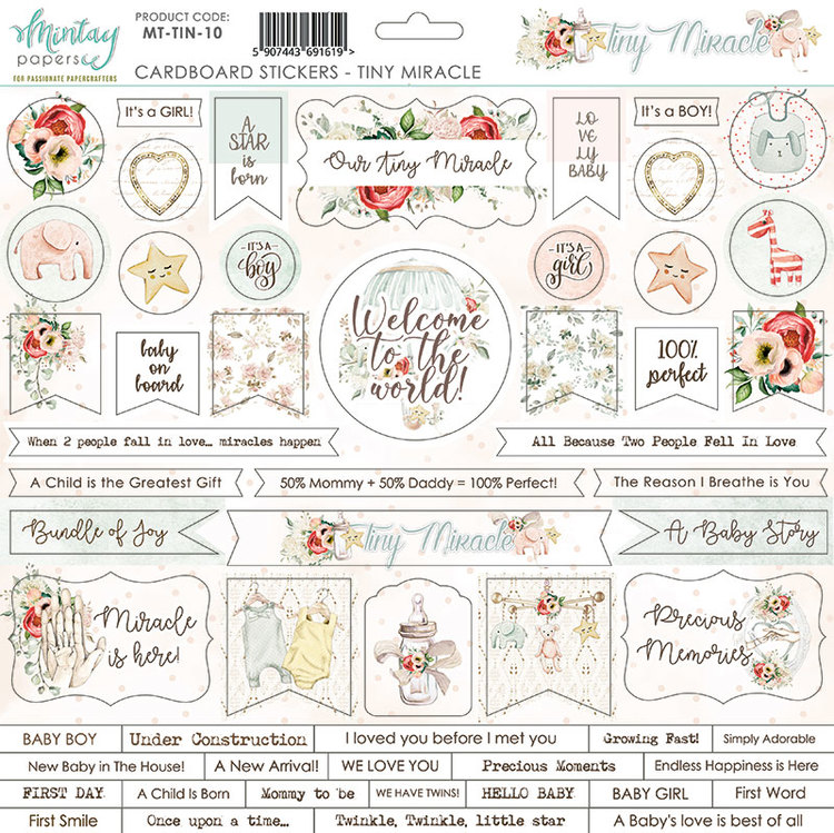 Chipboard dekos till Tiny Miracle 12x12
