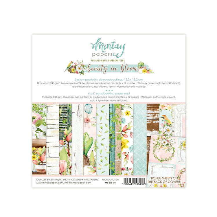Mintays by Karola Beauty in Bloom Papperspad 6x6