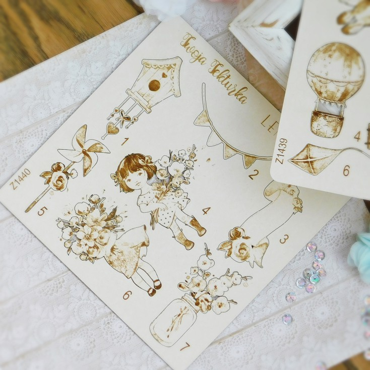 Lemoncraft Girls little world chipboard