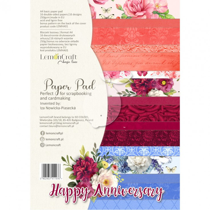 Lemoncraft Happy Anniversary A4 Papperspad