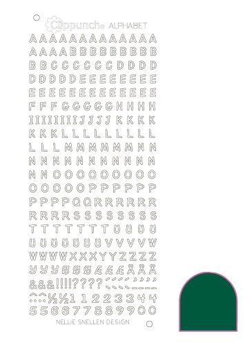 Nellie Snellen Alfabetstickers Grön