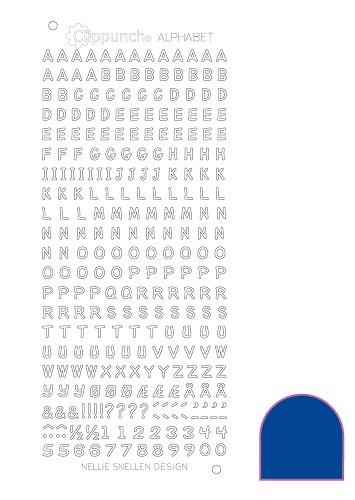 Nellie Snellen Alfabets stickers Marinblå