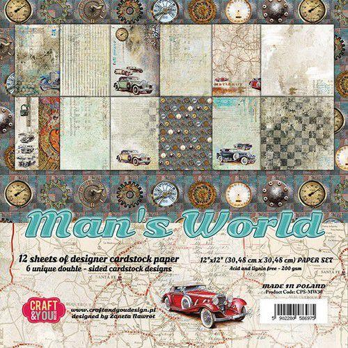 Mans world 12x12 papperspad