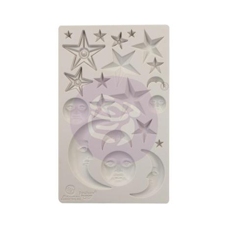 Prima Finnabair Decor Moulds 5X8 - Stars & Moons