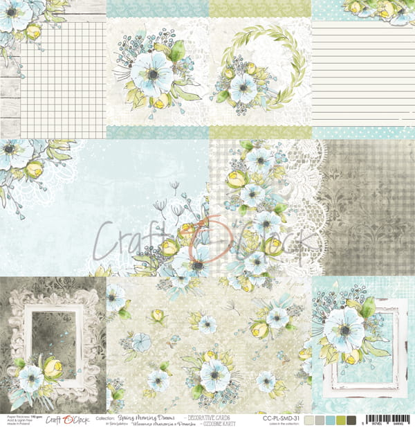 Spring morning dreams decorative cards