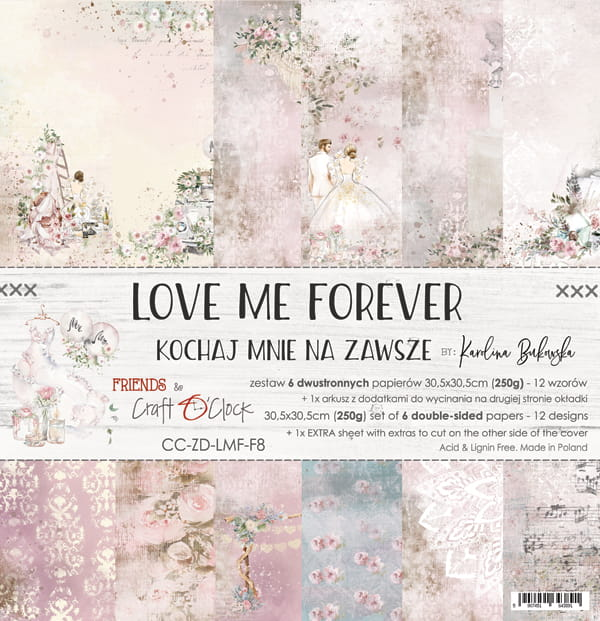 Love me forever 12x12