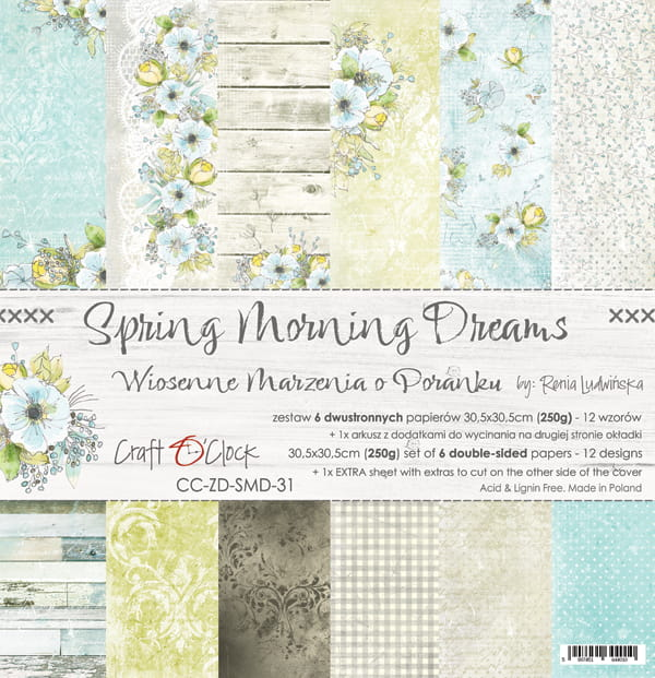 Spring morning dreams 12x12 papperspad