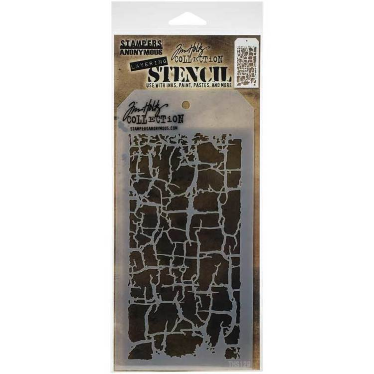 Tim Holtz Layering Stencil - Decayed THS129