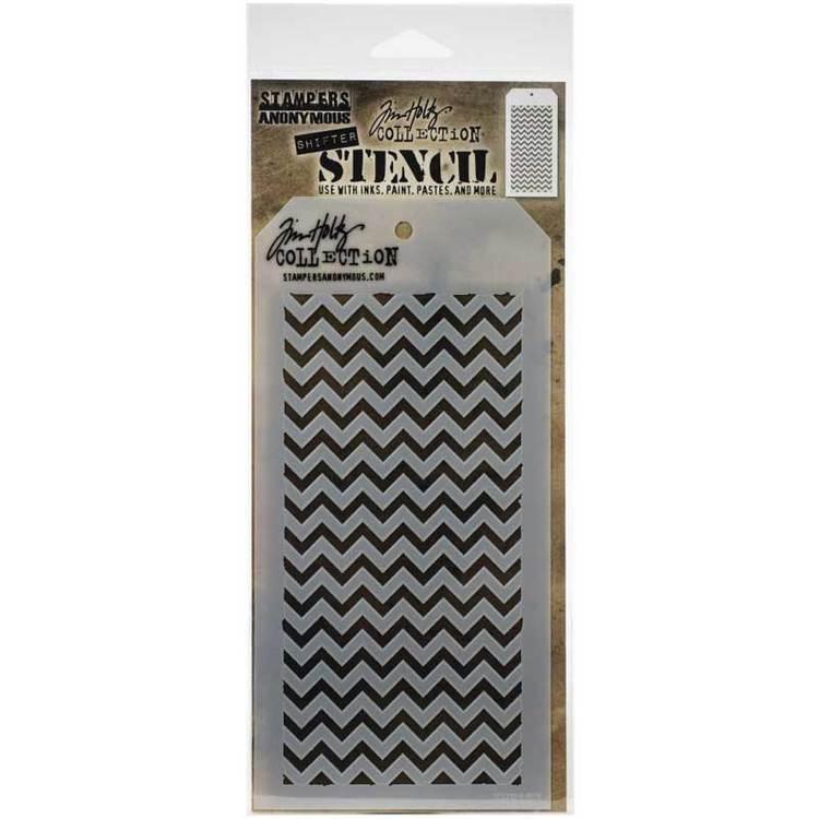 Tim Holtz Layering Stencil - Shifter Chevron THS127