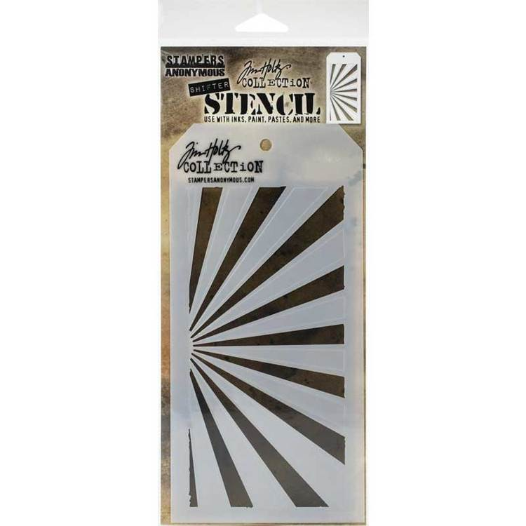 Tim Holtz Layering Stencil - Shifter Rays THS126