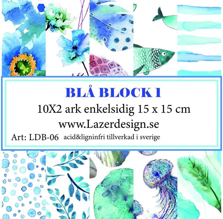 LDB-06 Papperspad Blå Block