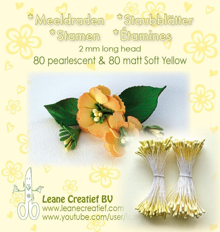 "Leane Stamen 2mm 80 Matt + 80 Pearl ""Soft Yellow"" 26.6593"