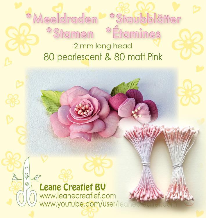 "Leane Stamen 2mm 80 Matt + 80 Pearl ""Pink"" 26.6609"