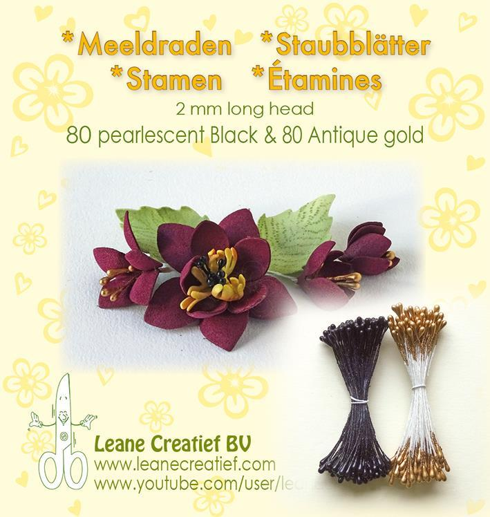 "Leane Stamen 2mm 80 Matt + 80 Pearl ""Antique Gold"" 26.6623"