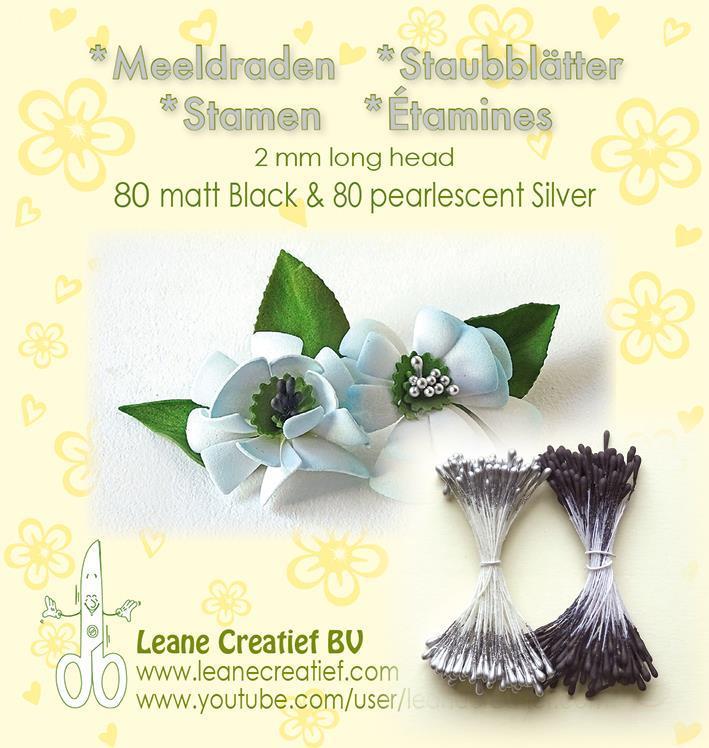 """Leane Stamen 2mm 80 Matt + 80 Pearl """"Silver"""" 26.6630"""