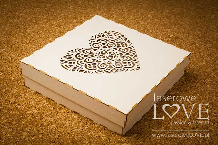Box Indiana heart 16x16 cm
