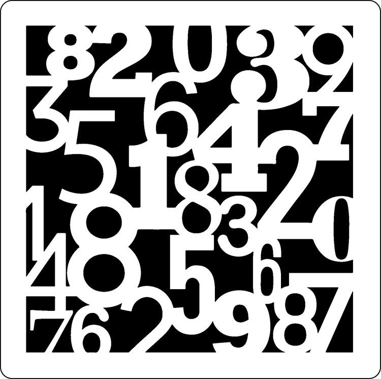 Stencil Siffror 3278