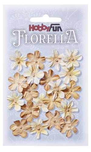 Fiorella 3866008 små blommor i beige 2 cm