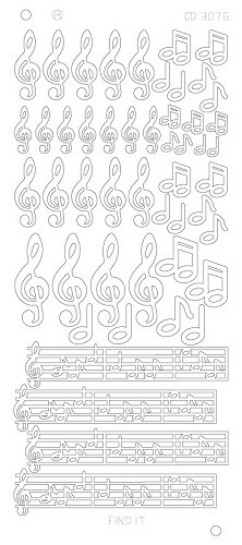 Music Notes Platinum Gold