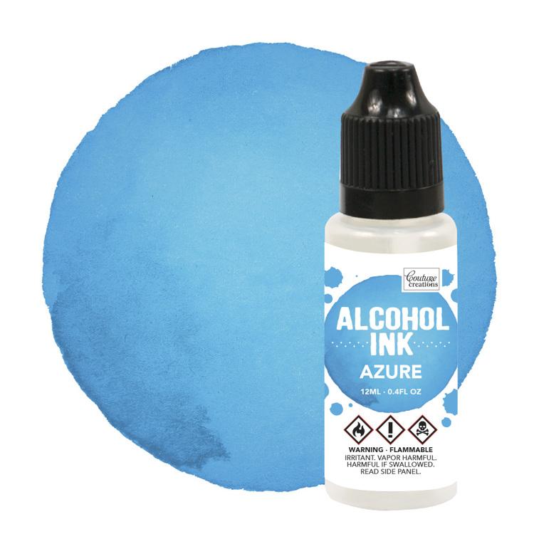 Alcohol Ink Azure Blue